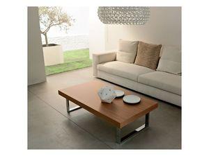 ART. 214/L LITTLE MALE', Table basse pour salles de séjour, en bois et en métal peint