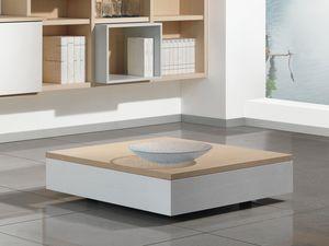 Compléments Petite Table Bois 01, Table basse en bois avec unité de stockage