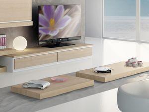 Compléments Petite Table Bois 03, Table basse en bois pour salon moderne