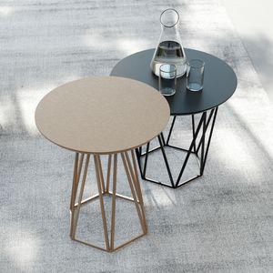 DIAMOND, Table basse raffinée à base hexagonale