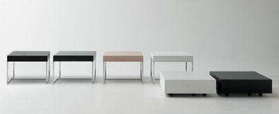 Domino, Table basse, design linéaire, pour les suites de l'hôtel