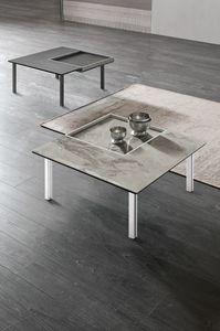 LEVELS M TL515, Petite table carrée, avec plateau amovible
