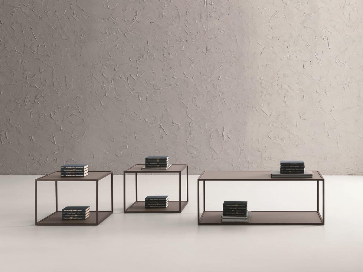 t112 square, Petite table carrée avec deux sommets