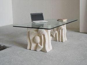 Archivio, Canapé Table, base en pierre, pour salle d'attente du bureau