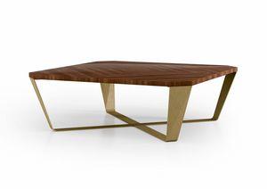 ART. 3450, Table basse avec plateau en noyer