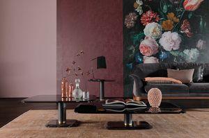 BOTERO, Table basse en marbre et verre