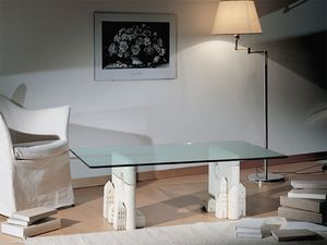 Carioca, Table basse en pierre, de style contemporain