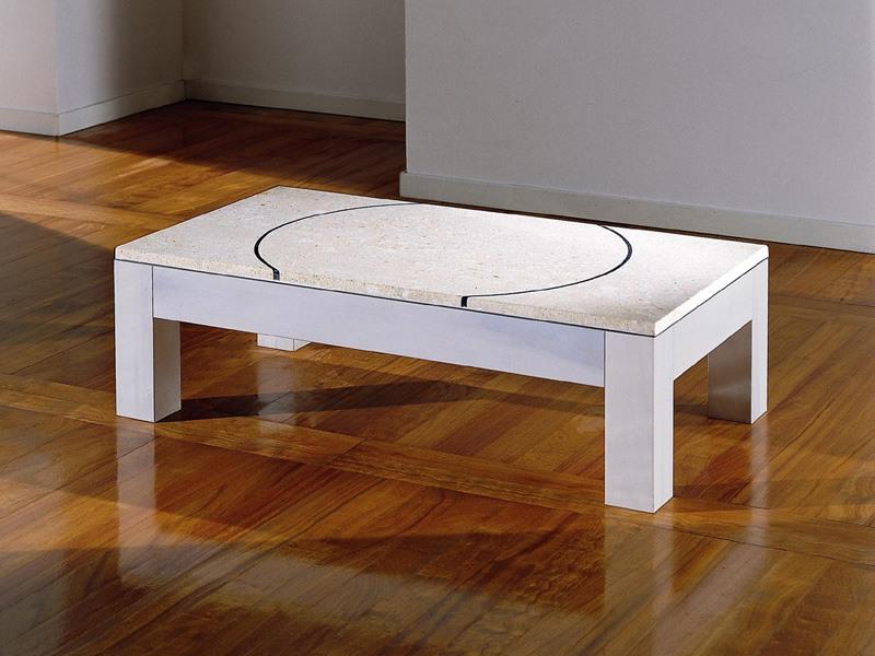 Didò, Table basse avec plateau en pierre colorée et décorée