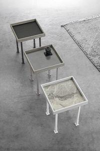 FRAME S TL527, Petite table avec plateau en grès cérame