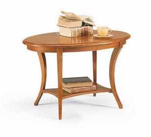 Friedrich tavolino, Table d'appoint en bois, avec style classique