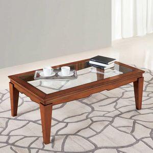 Giorgia GIORGIA3031, Table basse avec plateau en verre transparent