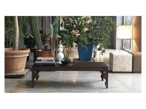 Giunone ST, Table basse en chêne laqué, pour salles de séjour