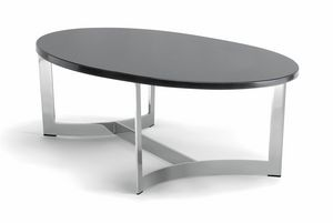 HUGO COFFEE TABLE 088 CO H30 - 088 NO H30, Table basse ovale, avec plateau personnalisable