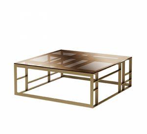 Matrix table basse carrée, Table basse avec grand dessus en verre carré