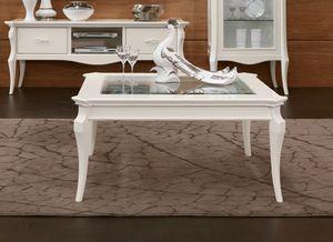 MONTE CARLO / table à café, Table basse avec plateau en verre