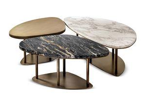 Ninfea Tables basses, Triptyque de tables basses
