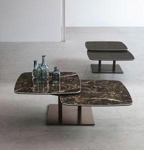 ORBITAL TL511, Table basse à deux plateaux tournants