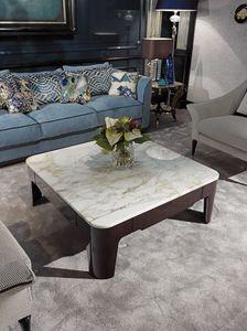 PALAIS-ROYAL Table basse, Table basse de luxe avec dessus en marbre