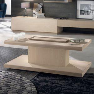 Spazio Contemporaneo SPAZE1047, Table basse en bois, avec plateau amovible