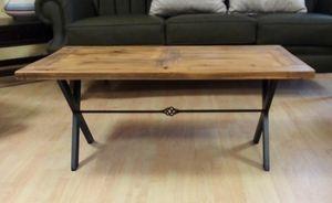 Table basse 03, Table basse avec plateau en bois vieilli