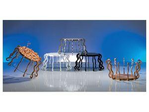 TL31 TL32 Medusa, Table originale être renversé, avec marqueterie de bois