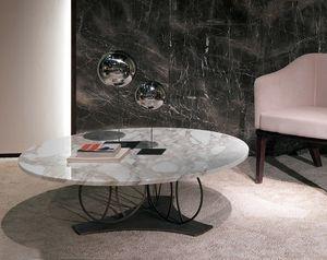 TL59 Moon petite table, Table basse avec dessus en marbre rond