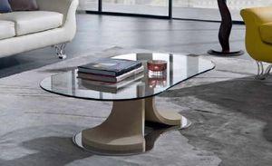 TL66 Mistral, Table basse de forme conique, plateau en verre