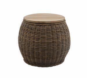 Bongo Bongo 0471, Table basse avec plateau en teck