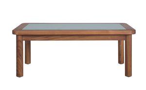 Ring 04C6, Table basse de jardin en teck et verre