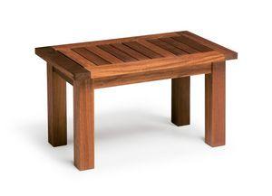Sorrento/te, Iroko table basse en bois, pour l'extérieur