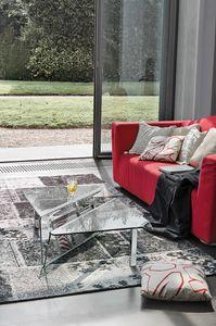 ALBATROS TLC05, Table basse en verre avec élément porte-revues