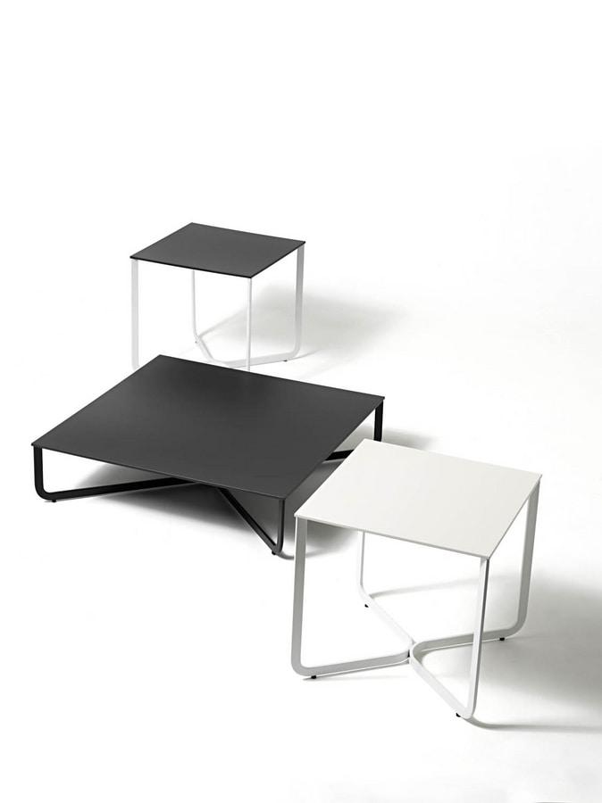 XS, Petite table en tube métallique, pour l'hôtel et cabinet médical