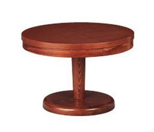 608, Round table basse, en hêtre, pour séjour