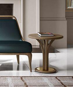 Alexander Art. A16/M - A16/A, Table d'appoint avec plateau rond en bois de frêne