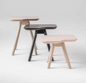 ART. 00101-SMALL AKY, Table d'appoint pour salon, Frêne petite table