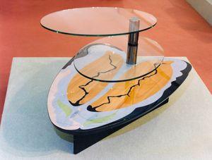 Art. 234, Table basse de salon avec 2 étagères en verre