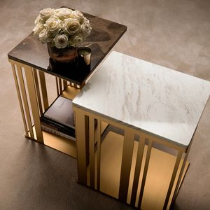 ATMOSFERA table d'appoint, Table d'appoint avec structure sophistiquée, robuste et brillante