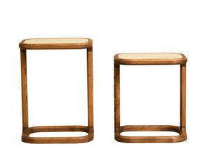 Bellagio 5626/F 5627/F, Table basse en bois, plateau en marbre