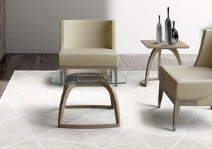 BS600T – Table basse, Table basse avec plateau en verre