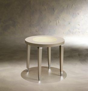Dahlia 369T, Table d'appoint en bois avec plateau rond