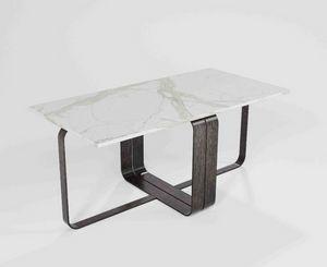 Dede, Table basse modulaire avec base en fer