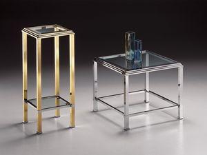 DOMUS 2194 , Place table haute, cadre de laiton doré