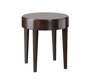 Downtown table d'appoint, Table d'appoint ronde avec dessus en bois plaqué