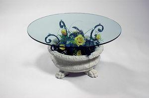 Efesto, Table basse avec base en forme de vase