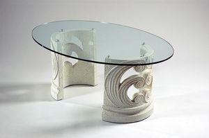 Eros, Table basse classique avec base en pierre