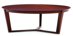 Flen 905 - 906, Table basse ronde, cadre en hêtre massif, hêtre ou dessus de marbre