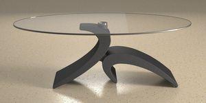 Giove, Table basse avec base en pierre
