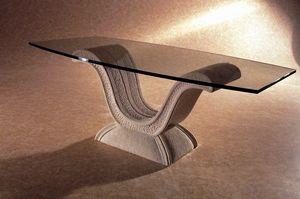 Glauco, Table basse classique avec base arquée