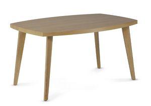 HIRO 1476, Table basse en bois à bords biseautés