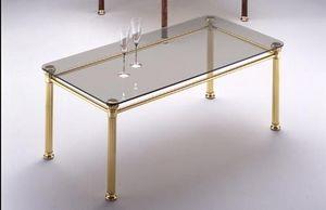 IONICA 666, Table basse avec structure en laiton poli, pour le salon